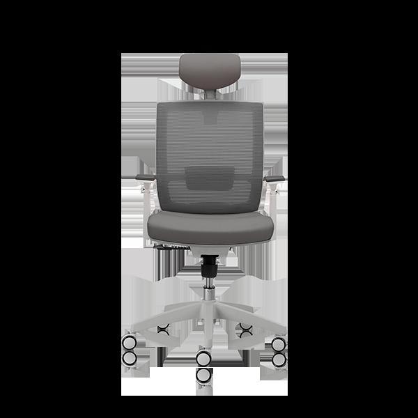 Silla de escritorio Axis gris claro con cabecero