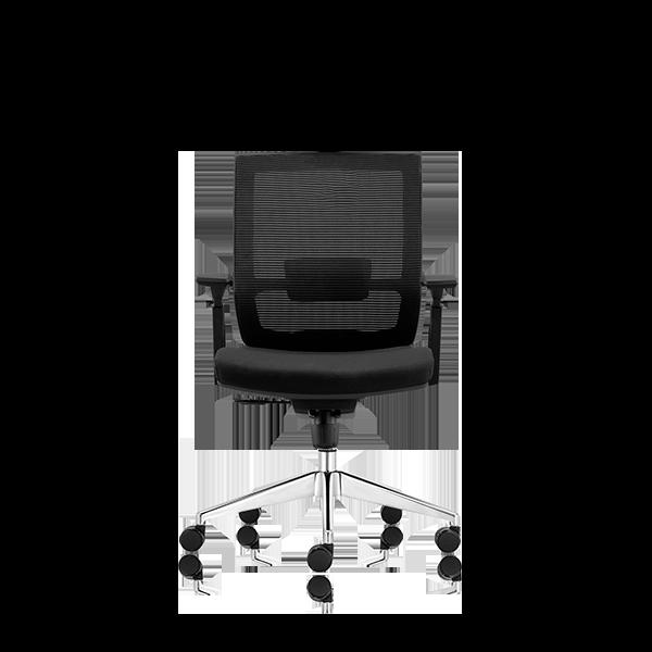 Silla de escritorio Axis negro y base aluminio