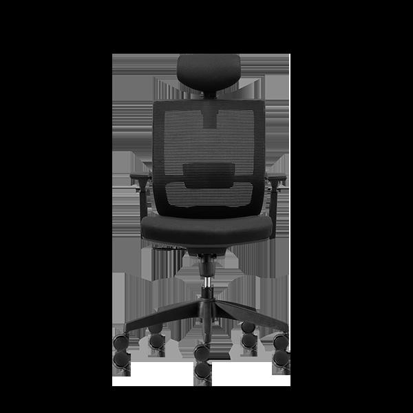 Silla de escritorio Axis negro con cabecero