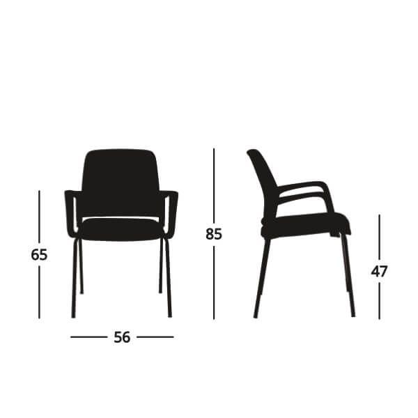 Detalles técnicos silla visita Yes
