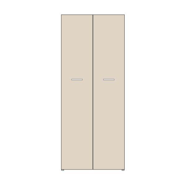 Biblioteca con puertas altura 199 cms