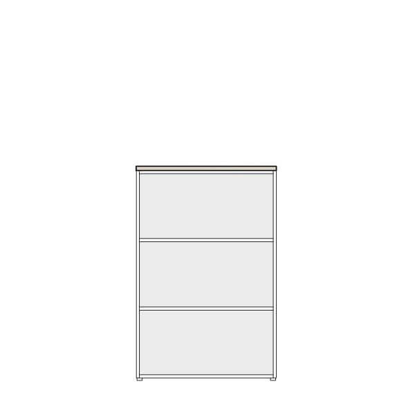 Biblioteca sin puertas altura 122 cms