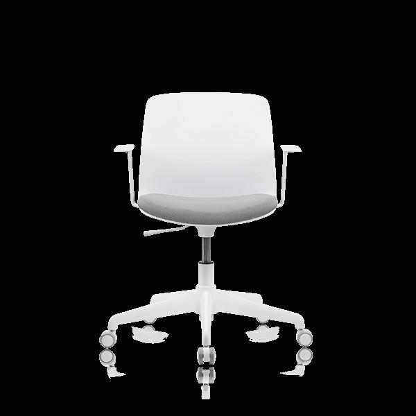 Silla de oficina Malva con ruedas y brazos