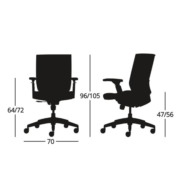 Medidas Silla de escritorio Axis