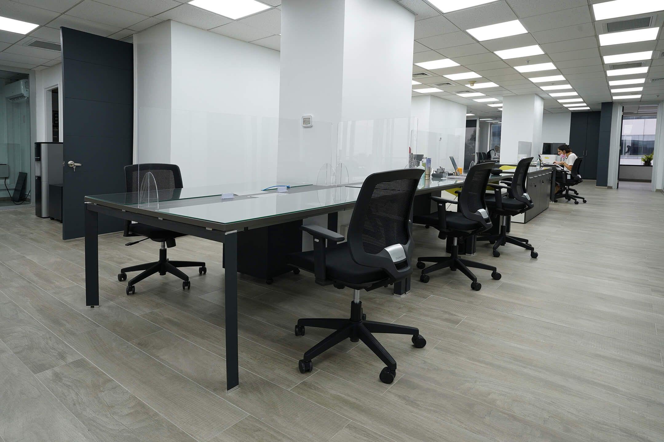 estaciones de trabajo grupales silla operativa cooper