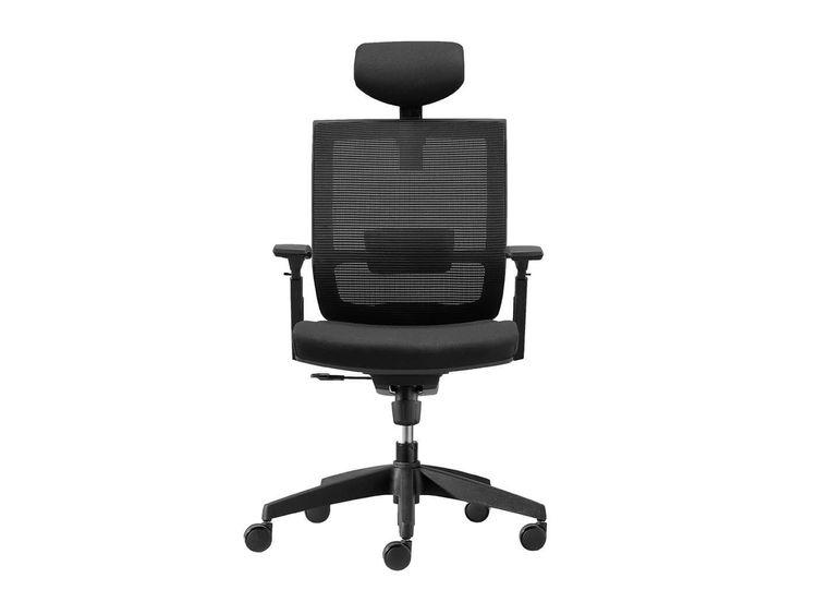 Silla de escritorio Axis con cabecero negra