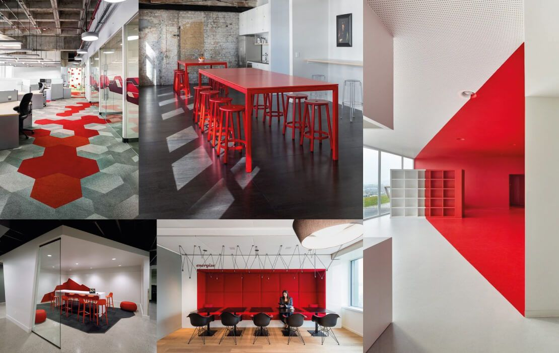 oficinas color rojo